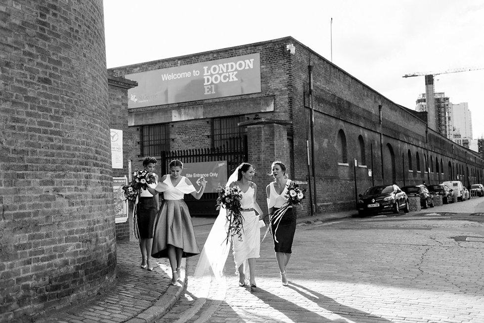 Alternative wedding by London wedding photographer