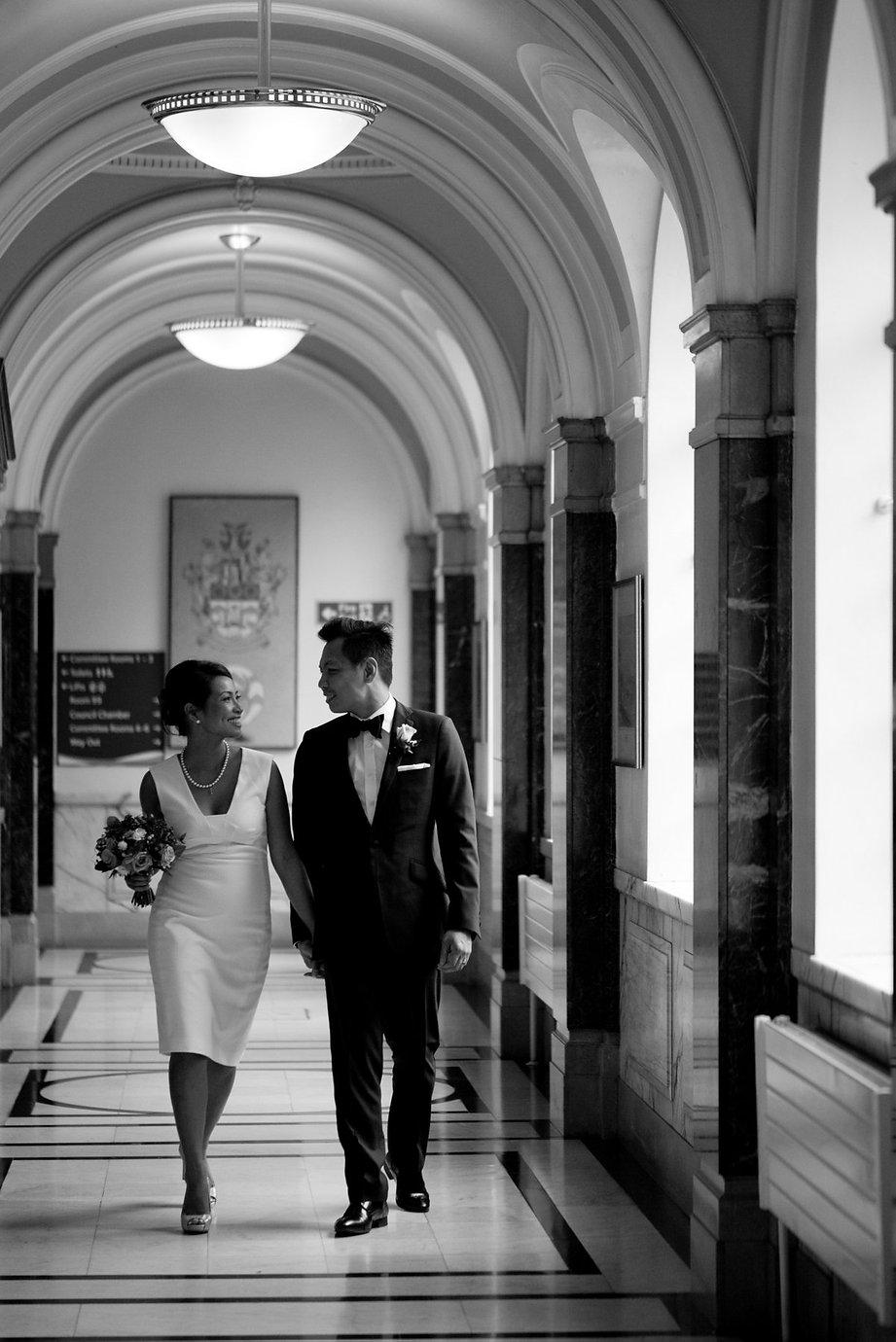 Islington Town Hall Wedding captured by London based Wedding Photographer, Grace Pham.