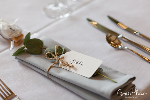 Gate Street Barn Wedding, Reception room, captured by Grace Pham Photography 01