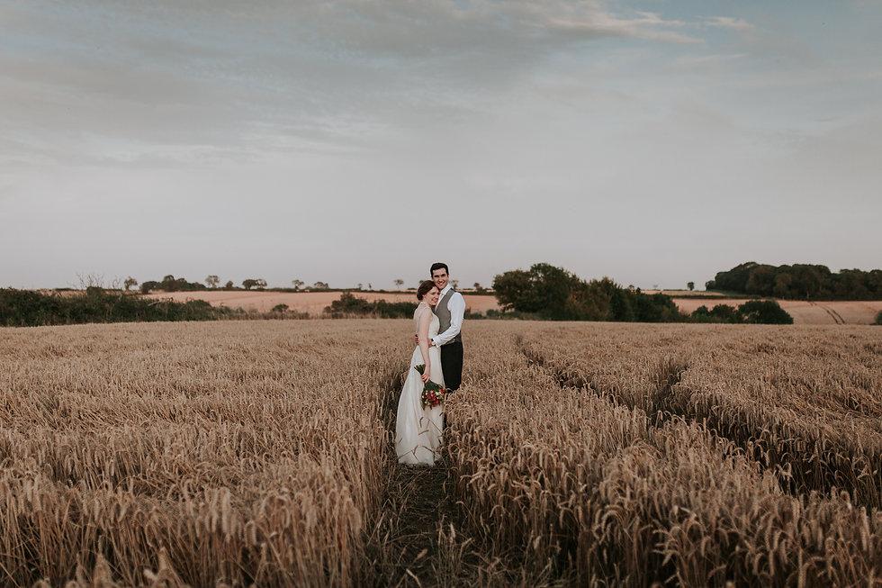 Countryside Family Farm Wedding, couple portraits, wheatfields, by Grace Pham Photography 01