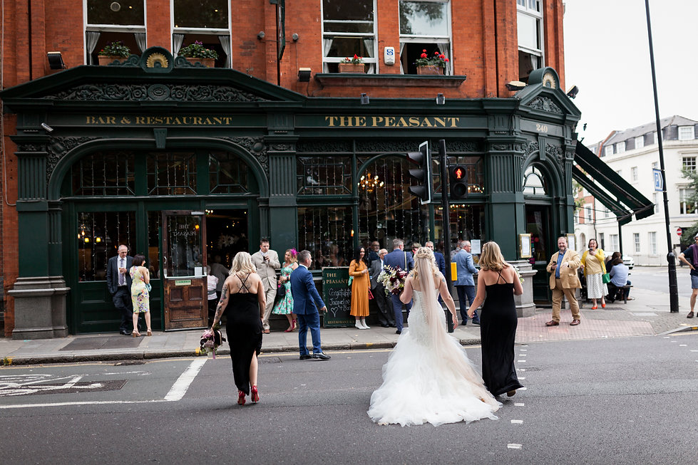 The Peasant pub wedding, London, captured by Grace Pham Photography 2019