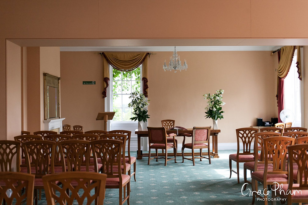 The Ewart Room at Merton Register office, Morden Park House. Image by London Wedding Photographer.