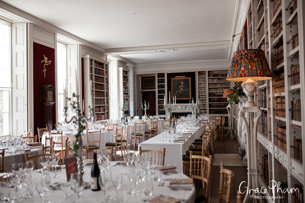 St Giles House Wedding Reception Room, Dorset, captured by Grace Pham Photography 01