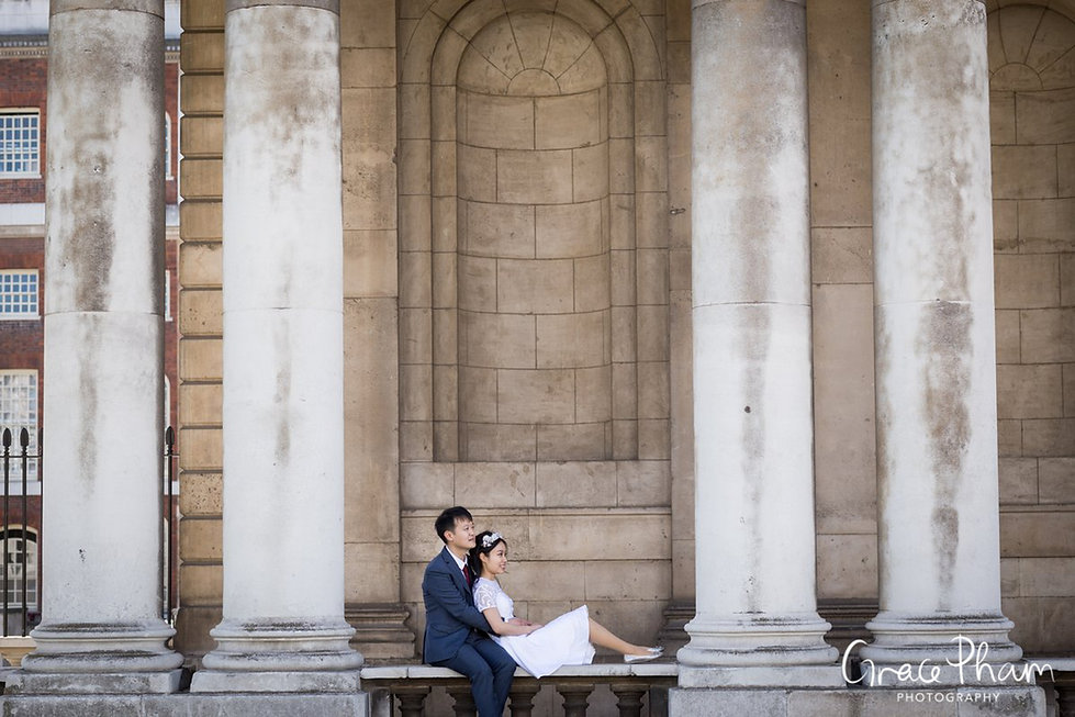 Old Royal Naval College & Greenwich Park Wedding, London Photographer 01