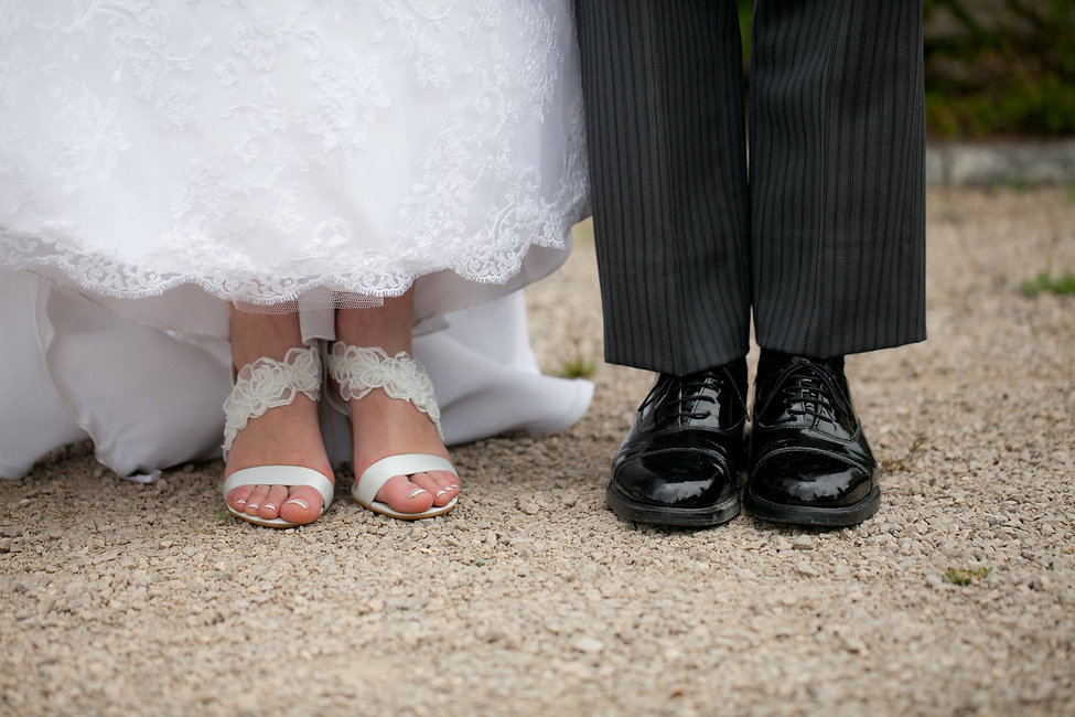 Cute feet. Warren House wedding captured by Grace Pham Wedding Photographer. Warren House is a beautiful wedding venue in Surrey with the tranquil gardens and grand Victorian country house.