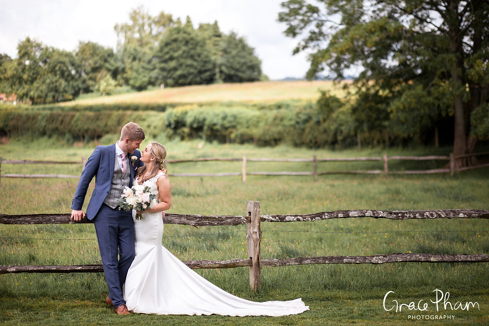 Gate Street Barn Wedding captured by Grace Pham Photography