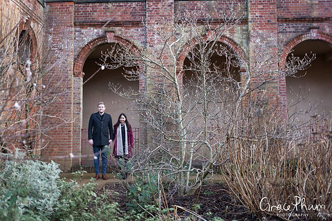 Hampstead Pergola & Hill Gardens Winter Engagement Shoot captured by Grace Pham London Wedding Photographer 05