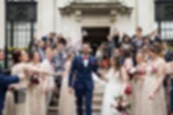 Islington Town Hall Wedding confetti captured by London Wedding Photographer May 2018 02