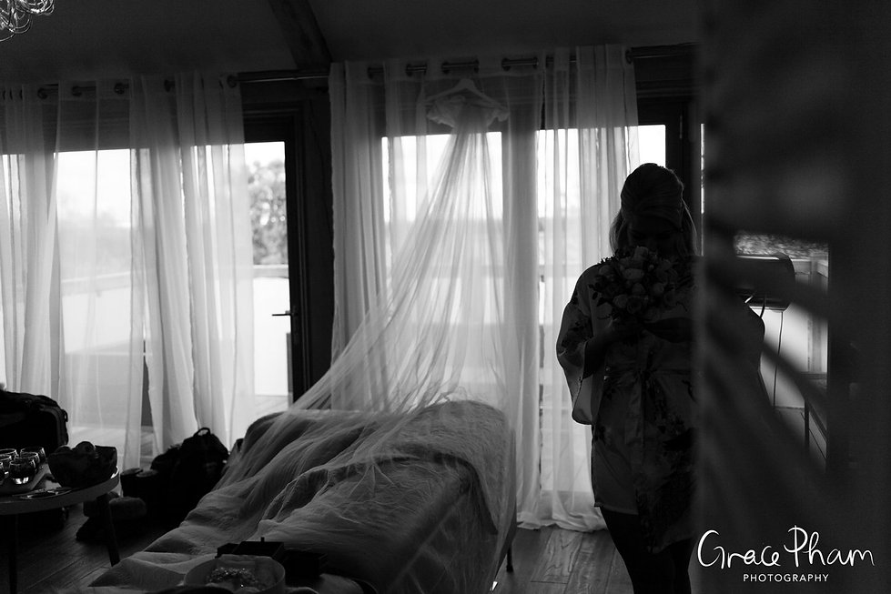 Bride getting ready at Cooling Castle Barn, by Kent Wedding Photographer 02