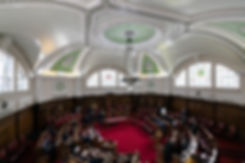 Council Chambers room at the Islington Town Hall captured by London Wedding Photographer