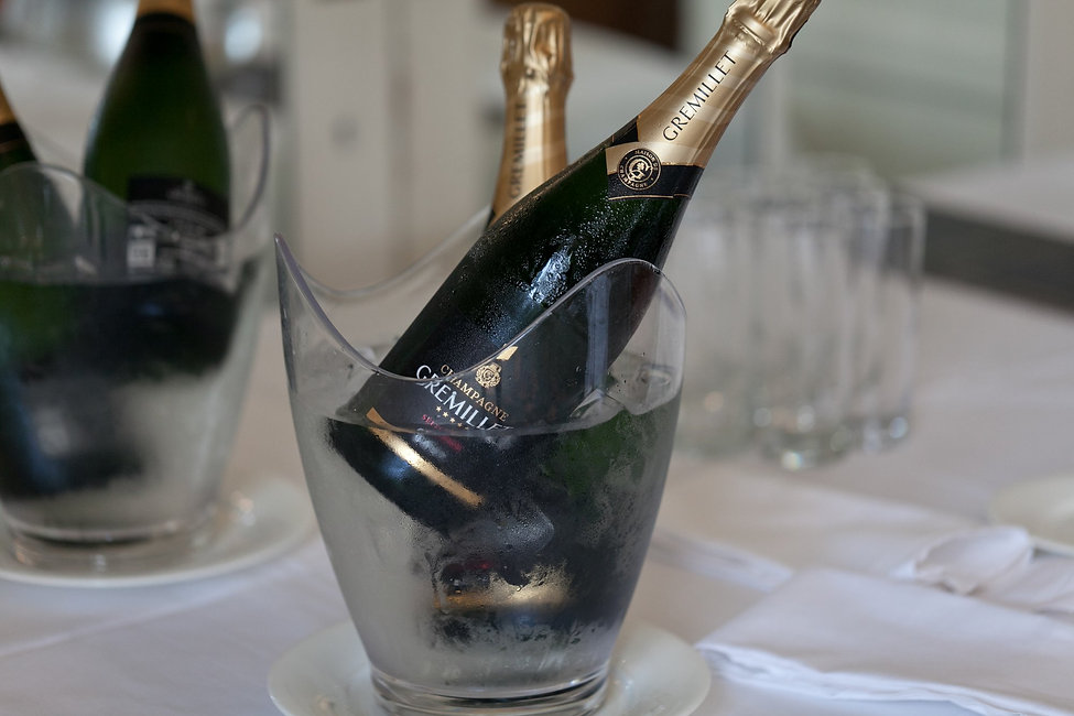 Champagne at Warren House Wedding