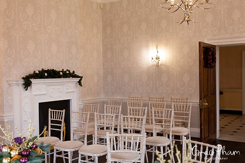 The new redecorated Sheridan Marriage Room at Merton Register office, Morden Park House. Image by London Wedding Photographer 01