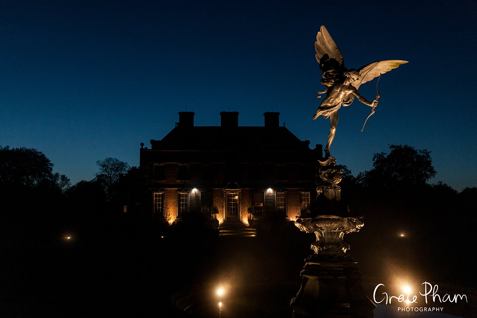 St Giles House Wedding at night captured by Grace Pham Photography