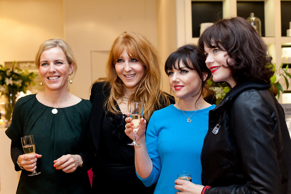 Sali Hughes, Charlotte Tilbury at press launch captured by London Commercial Photographer