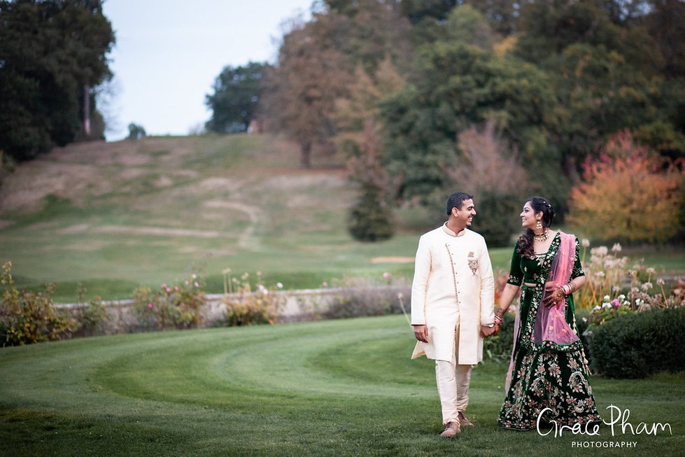 Moor Park Golf Club Mansion Indian Wedding, captured by Grace Pham Photography 22
