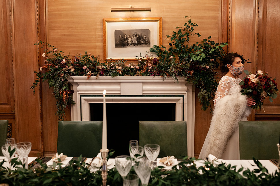 The Ned Wedding reception, London, RWB room, captured by Grace Pham Photography 02