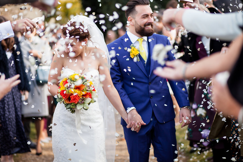 Saint Mary The Virgin Church Wedding, Ipswich, Suffolk, confetti moment captured by Grace Pham Photography 03