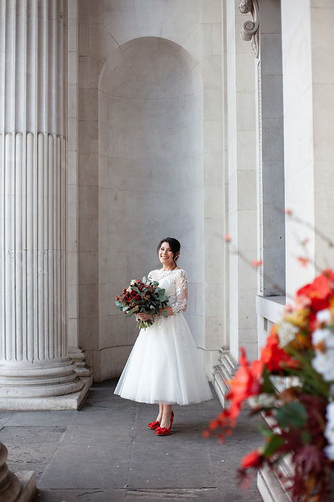 Covid-19  Wedding at The Old Marylebone Town Hall captured by Grace Pham Photography 7