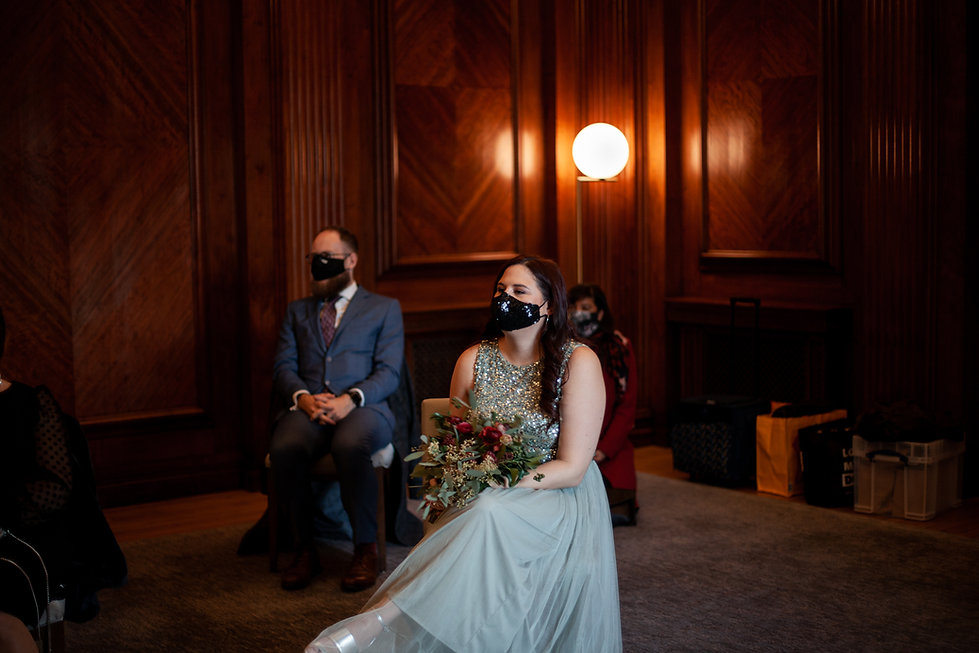 Covid-19  Wedding at The Old Marylebone Town Hall captured by Grace Pham Photography 3