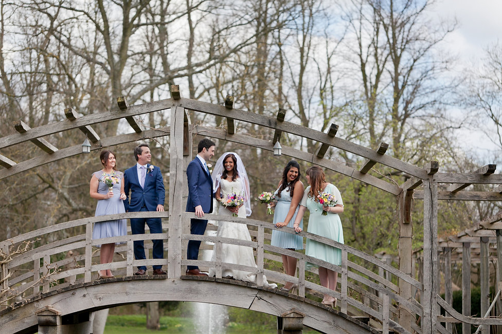 Great Fosters Wedding. Location shots with bridal party, captured by Grace Pham Wedding Photographer.