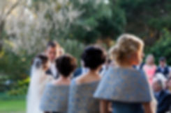 Wedding ceremony at Emu Bottom Homestead. Smitten groom looking at his stunning bride.