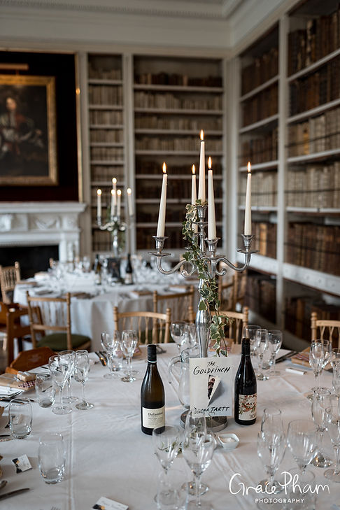 St Giles House Wedding Reception Room, Dorset, captured by Grace Pham Photography 02