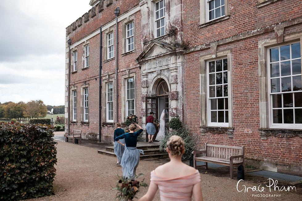 Beautiful St Giles House Wedding, Dorset, captured by Grace Pham Photography 02