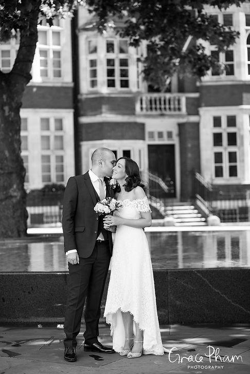 Whistles Wedding Dress, Westminster Register Office, London Wedding Photographer 13