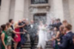 Henrik & Ashleigh's Wedding, Confetti moment captured by Grace Pham Photography, London