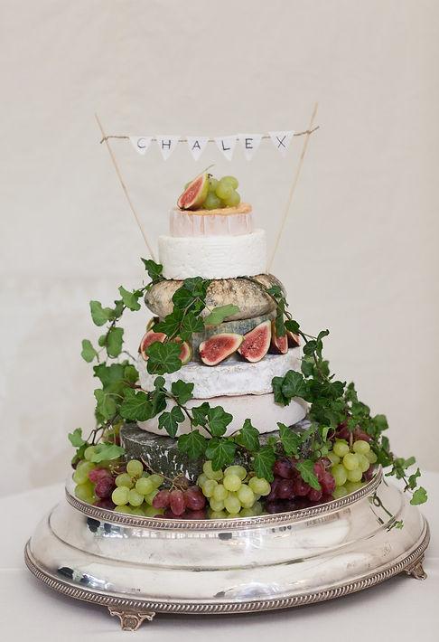 Cheese wedding cake at Fulham Palace