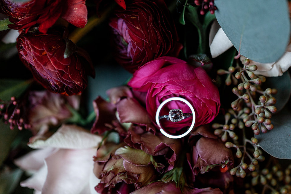 Wedding detail shots, rings, by Grace Pham Photography