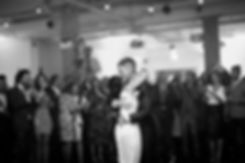 First wedding dance at Studio Spaces in East London captured by Reportage London Wedding Photographer