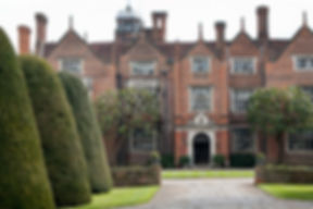 Front Entrance of Great Fosters Hotel by Surrey Wedding Photographer