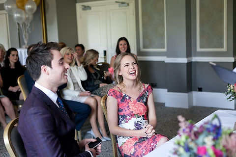 Hotel du Vin Wimbledon Wedding Ceremony in the Krug room by Grace Wedding Photography 02