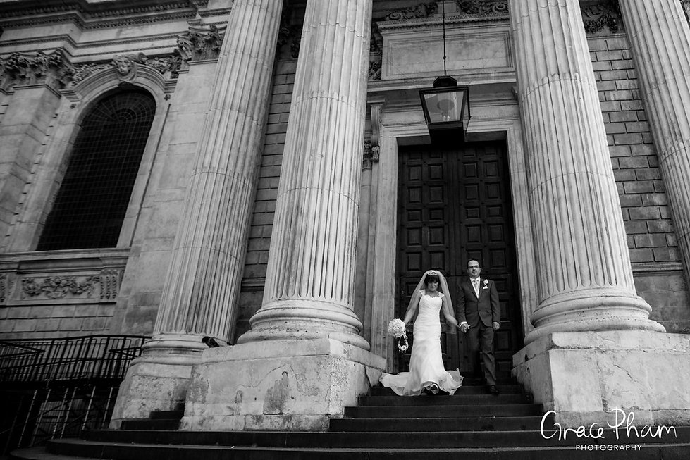 St Paul's Cathedral Wedding, London, Grace Pham Photography 07