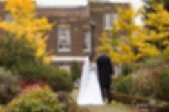 Autumn wedding at Morden Park House, Merton Register Office in Morden