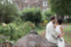 Spring wedding at Merton Register Office, Morden Park House