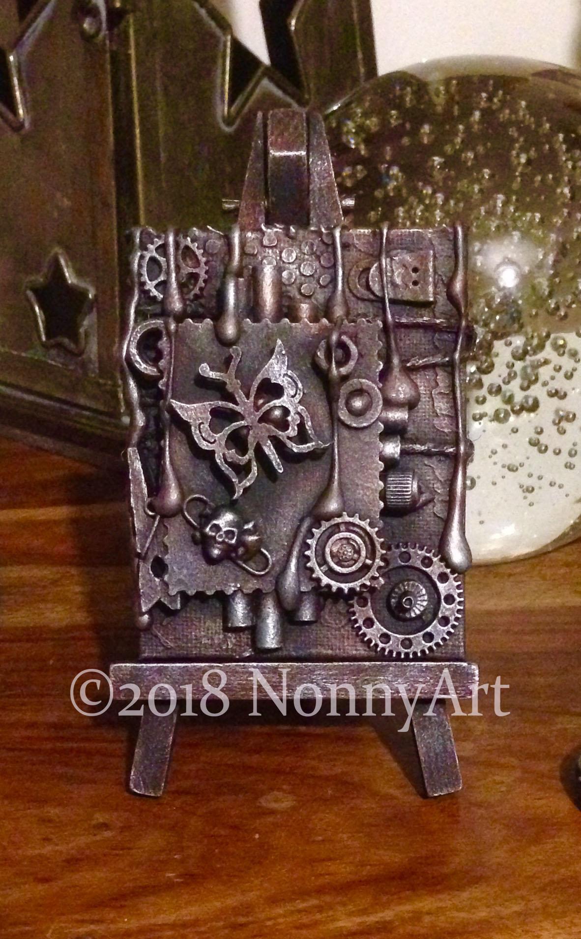 Steampunk butterfly 7cm x 9cm