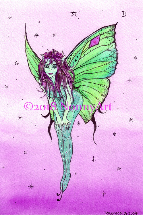 Green Shimmer faerie digital download