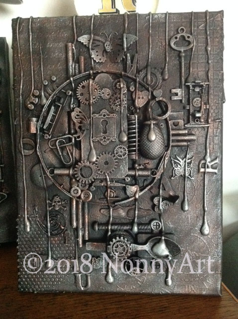Steampunk Key to the keyhole 3 23x30.5x1.5cm