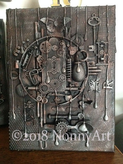 Steampunk Key to the keyhole 3 23x30.5x1.5cm