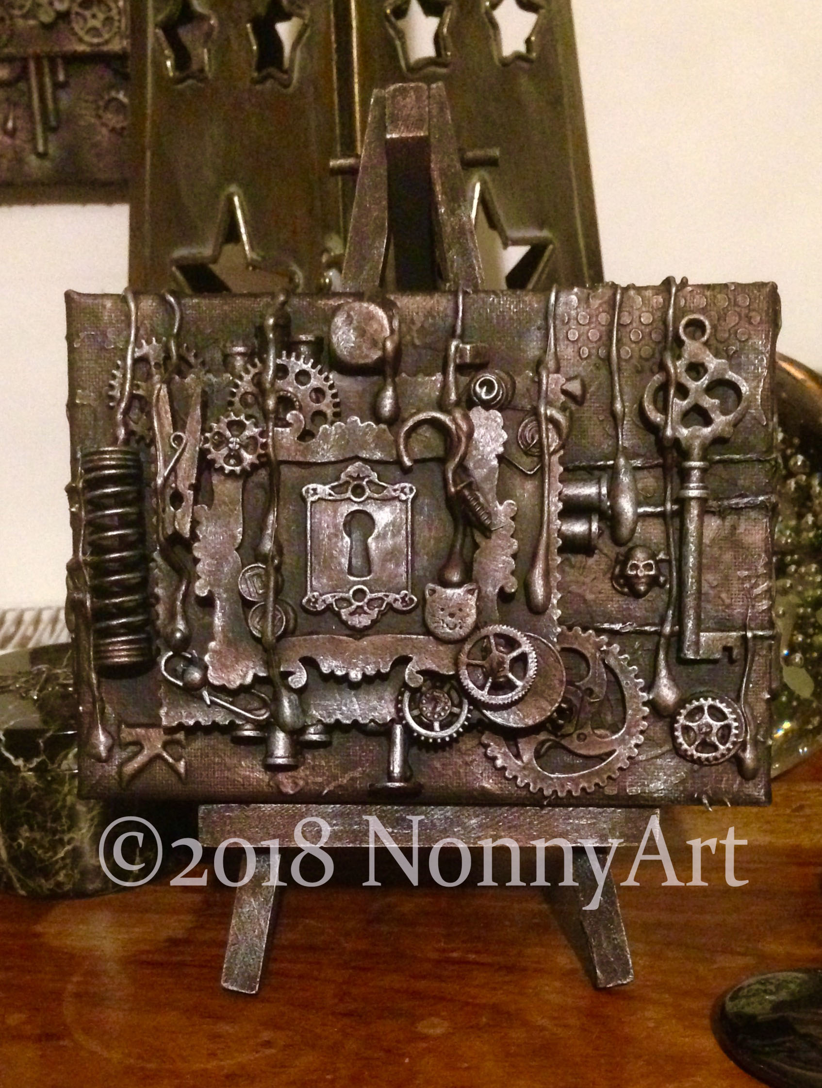 Steampunk Key to the keyhole 2nd edition 12cm x 16cm
