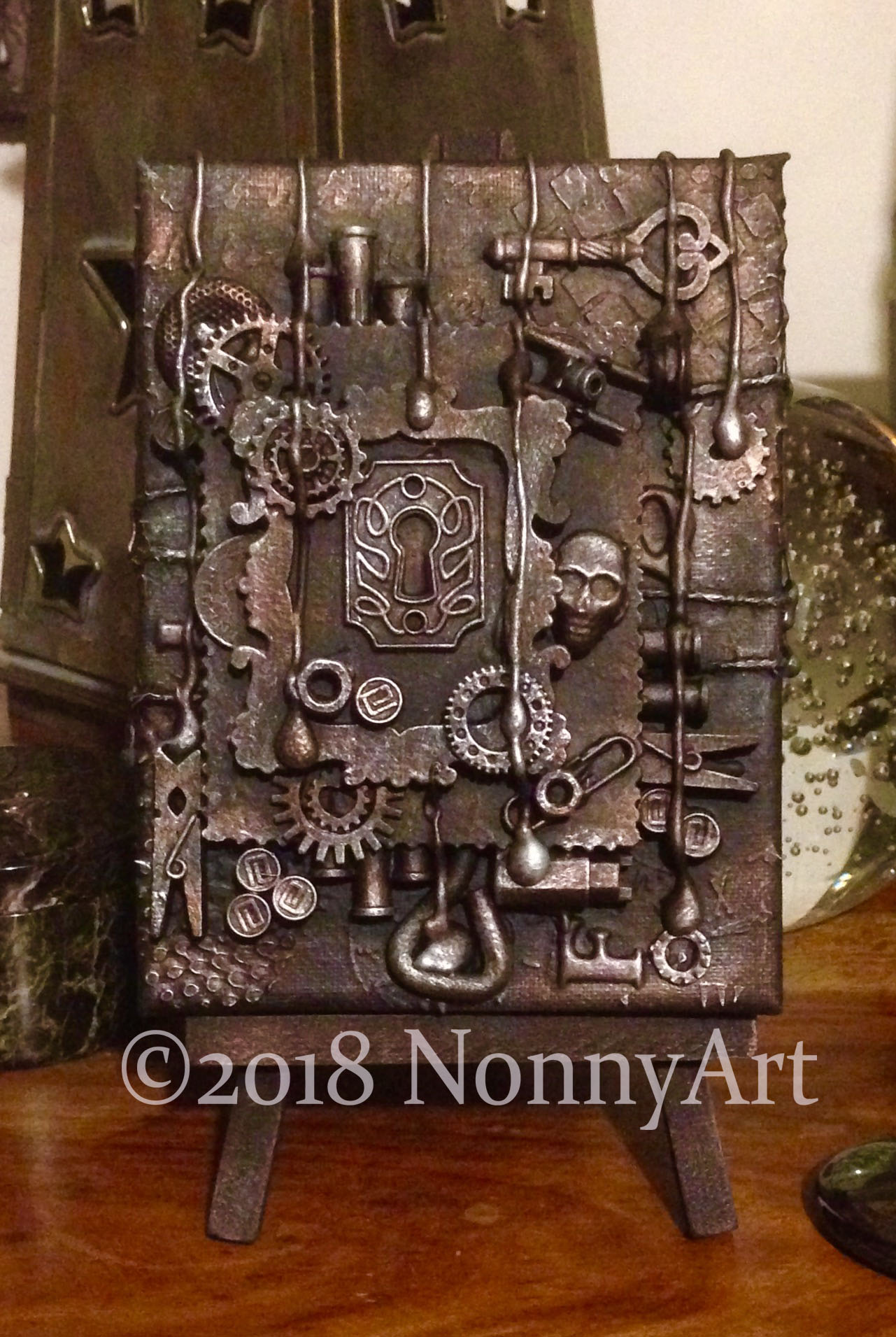 Steampunk Key to the keyhole 1st edition 12cm x 16cm