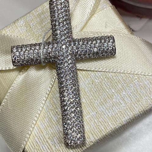 Серебряный крест подвеска