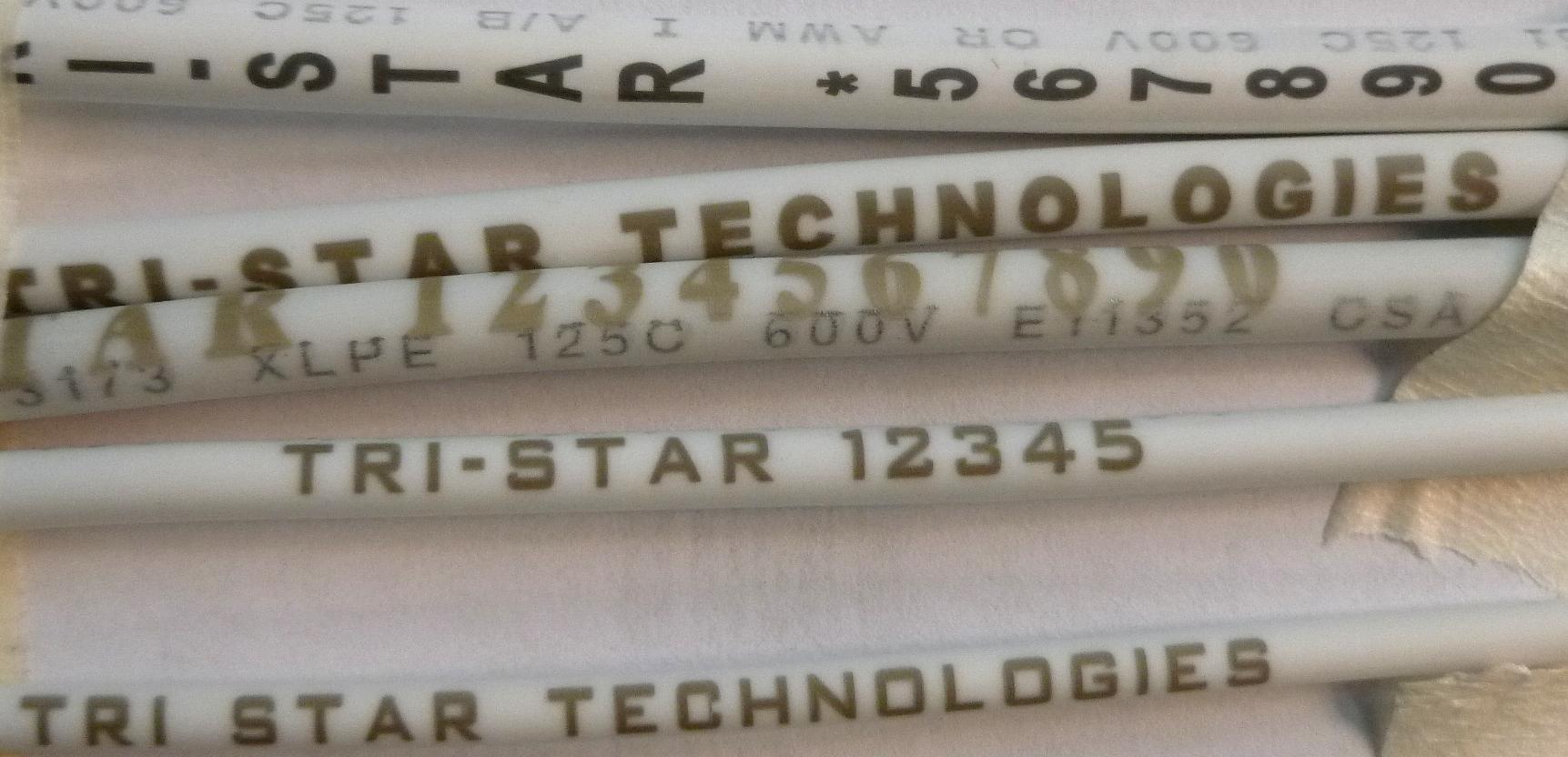 UV Laser Marked Wire Samples