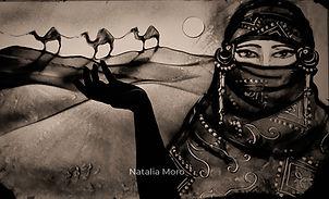 Oriental  Sandartistin Natalia Moro
