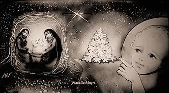 Wichnachten in Sand gemalt, Sandartist Natalia Moro.