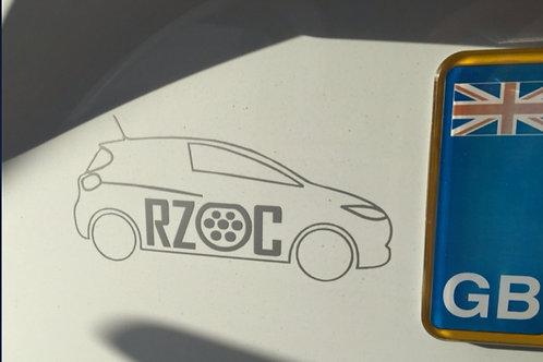 RZOC Car Logo Sticker