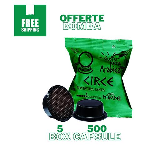 500Capsule di Caffè Compatibili Amodomio* Circe -Arabica