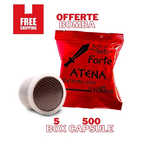 500Capsule Caffè compatibili Espresso Point* Atena -Gusto Forte